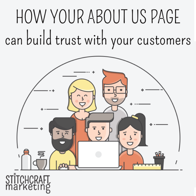 how your about us page can build trust, from Stitchcraft Marketing