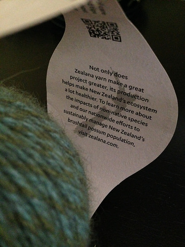 What an informative yarn label!
