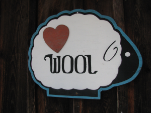 Rhinebeck Love Wool sign
