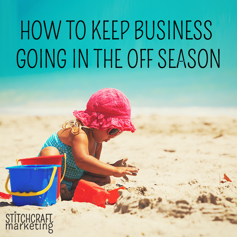 how to keep busy in the off season for craft businesses knitting sewing crochet yarn