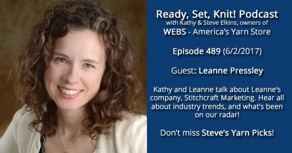 Leanne Pressly on the Ready, Set, Knit podcast