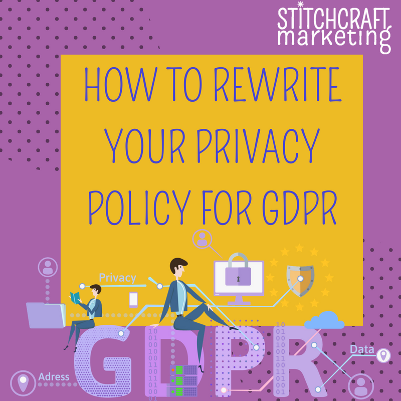 Rewrite your privacy policy for GDPR